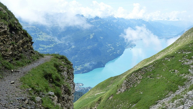 Another view to Lake Brienzersee shortly before reaching Gibel