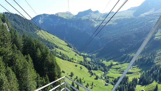 Hoch-Ybrig Region in Canton Schwyz (ascent with cable car from Weglosen)