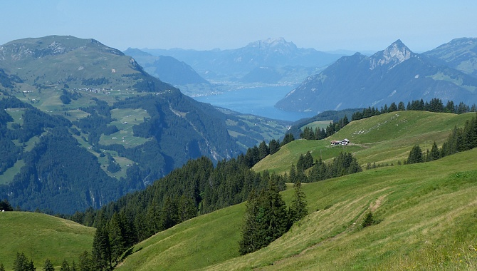 Views of Fronalpstock, Stoos, Lake Lucerne, Mt.Pilatus