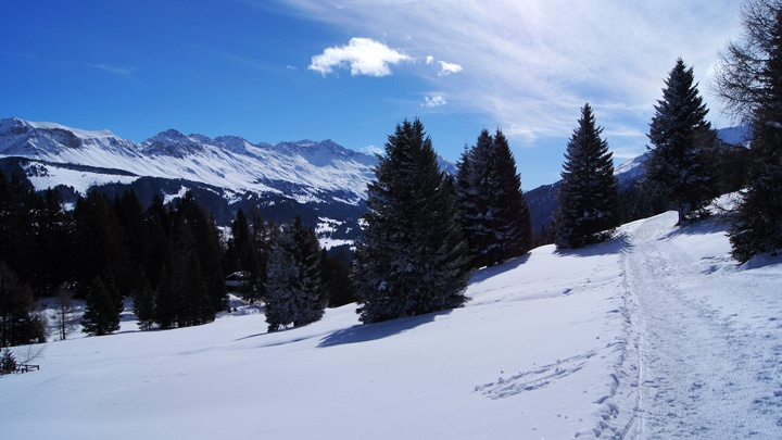 Vue direction Lenzerheide.