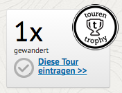 Touren-Trophy Button